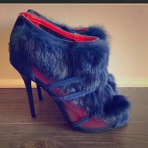 💙💙 Blue Rabbit Fur heels 💙💙